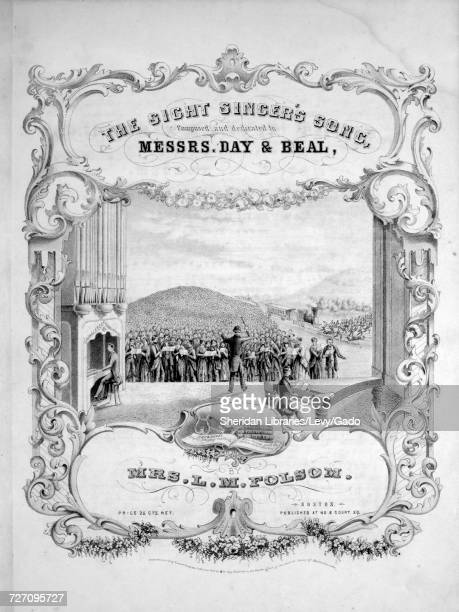Sheet music cover image of the song 'the Sight Singer's Song ' with original authorship notes reading 'Composed by Mrs LM Folson' United States 1851...