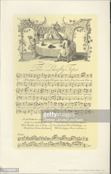 Sheet music cover image of the song 'the Thirsty Toper' with original authorship notes reading 'na' 1900 The publisher is listed as '' the form of...