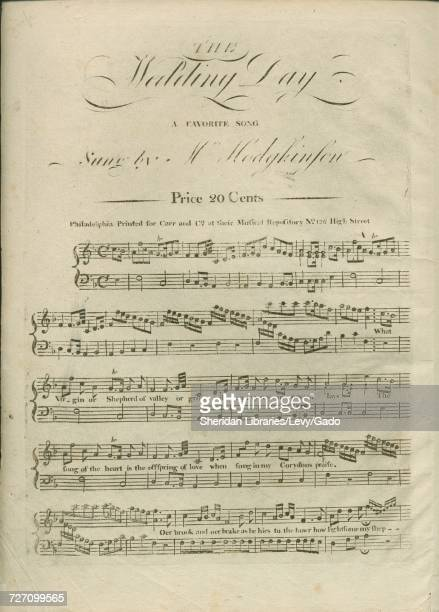 Sheet music cover image of the song 'the Wedding Day A Favorite Song' with original authorship notes reading 'na' United States 1900 The publisher is...