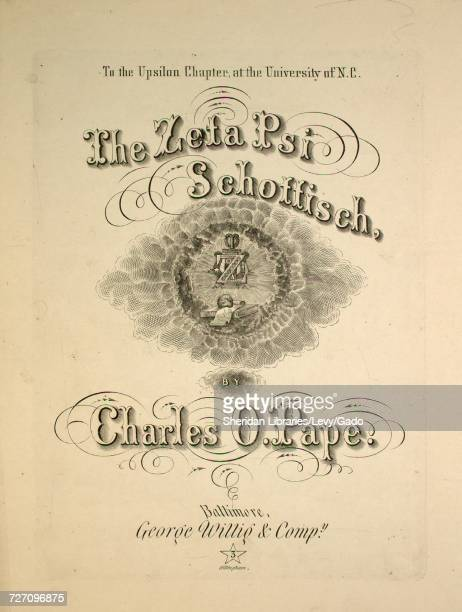 Sheet music cover image of the song 'the Zeta Psi Schottisch' with original authorship notes reading 'by Charles O Pape' United States 1866 The...