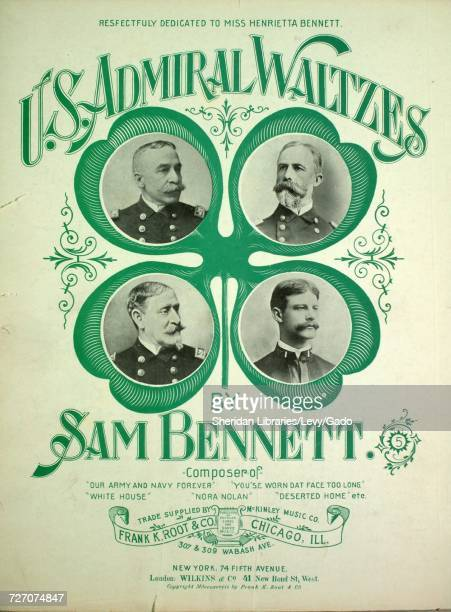 Sheet music cover image of the song 'US Admiral Waltzes' with original authorship notes reading 'By Sam Bennett' United States 1898 The publisher is...