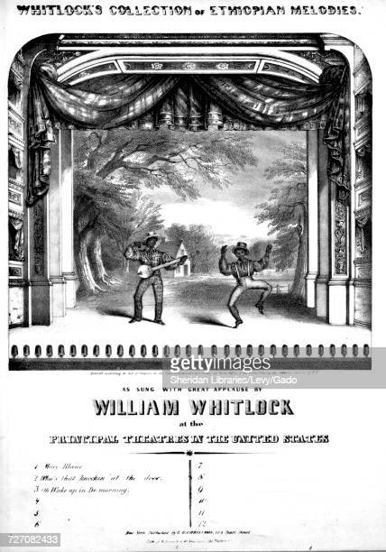 Sheet music cover image of the song 'Whitlock's Collection of Ethiopian Melodies Oh Wake Up In De Morning' with original authorship notes reading...
