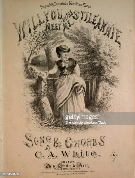 Sheet music cover image of the song 'Will You Meet Me By the Stile Annie Song and Chorus' with original authorship notes reading 'Words by JW Turner...