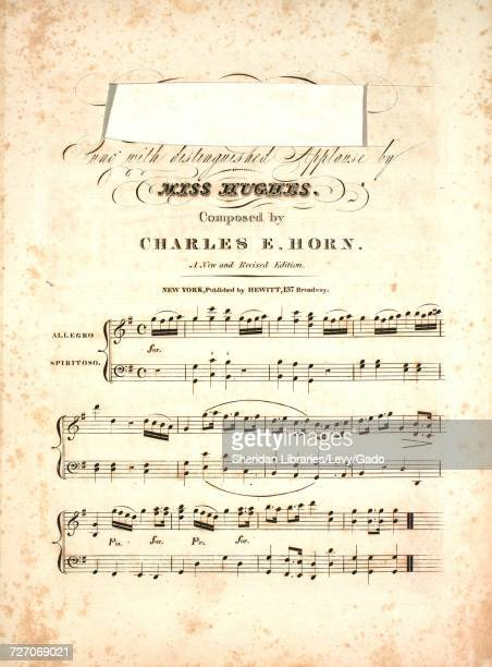 Sheet music cover image of the song ' ' with original authorship notes reading 'Composed by Charles E Horn A New and Revised Edition' United States...