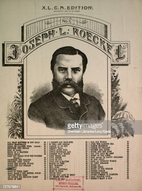 Sheet music cover image of the song 'XLCR Edition No 1 Joseph L Roeckel Faithful' with original authorship notes reading 'Words by Mary Mark Lemon...