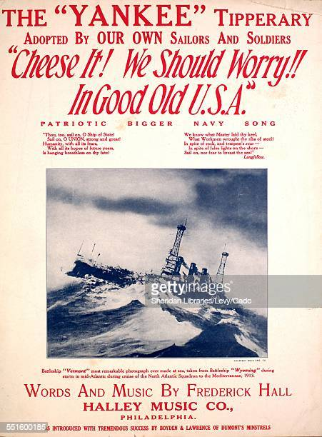Sheet music cover image of 'The 'Yankee' Tipperary Adopted by our Own Sailors and Soldiers 'Cheese it We Should Worry In Good Old USA' Patriotic...
