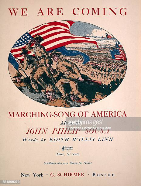 Sheet music cover image of 'We Are Coming MarchingSong of America' by John Philip Sousa and Edith Willis Linn New York New York 1918