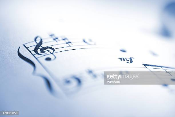 Sheet music notes macro