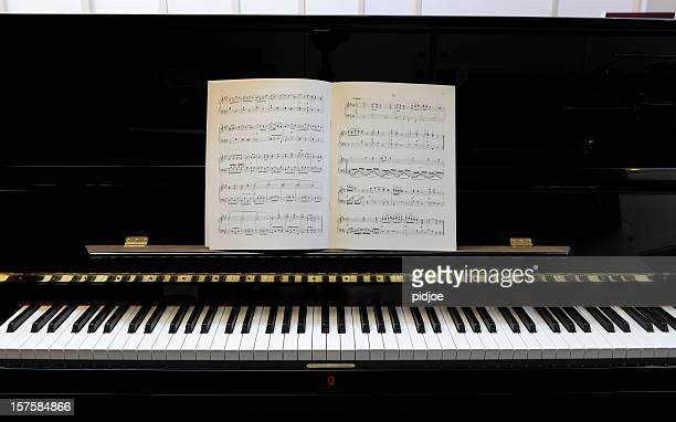 シートの音楽のピアノ黒塗りの XXXL 画像
