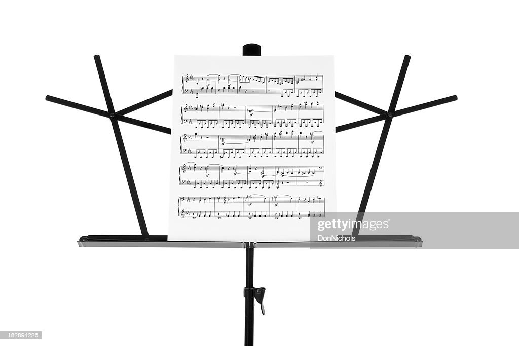 Sheet Music on Stand Close-up