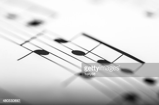 sheet music : Stockfoto