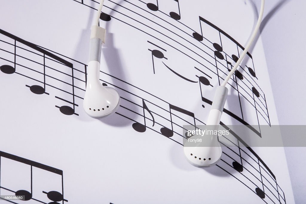 Pauta de Música : Foto de stock