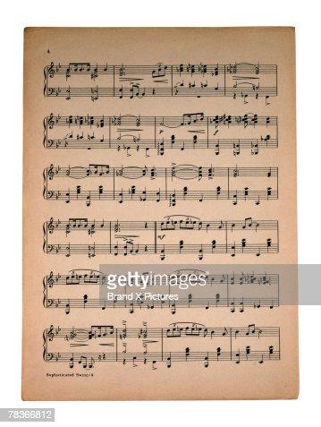 Sheet music : Stock Photo