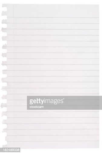 High Resolution Isolated Spiral Binding Notebook Torn Blank Lined