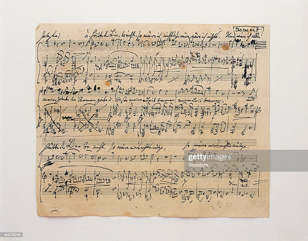 Sheet of Music : Stock Photo