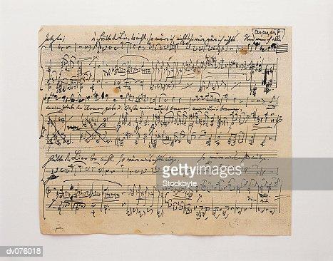 Sheet of Music : Stock Photo