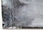 Sheet of zinc, close-up
