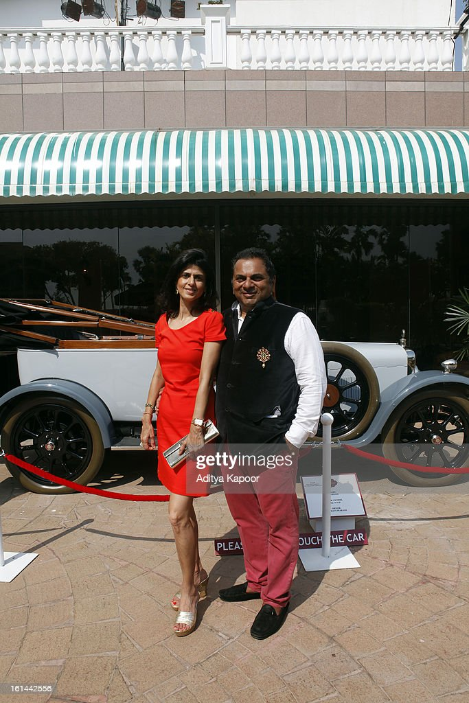 Sheetal (L) and Biren Vaidya at the Cartier 'Travel With Style' Concours 2013 at Taj Lands End on February 10, 2013 in Mumbai, India.