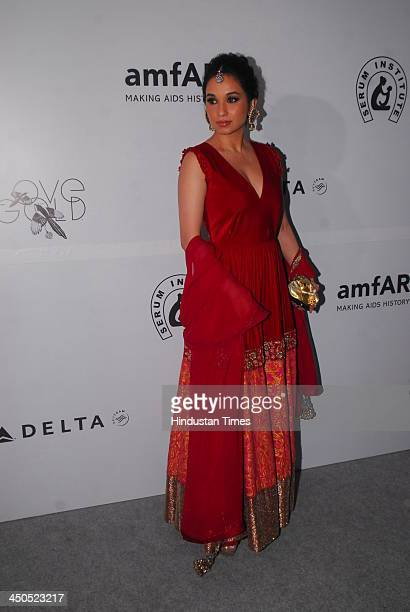 Sheetal Mafatlal during the India's first amFAR gala the international organisation that raises funds for AIDS research at the Taj Mahal on November...