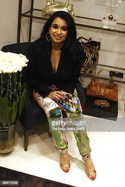 Sheetal Mafatlal socialite and Luxury Dealmaker during introduce the luxury brand Valentio Fashion Group's first store at the ShangriLa Hotel New...