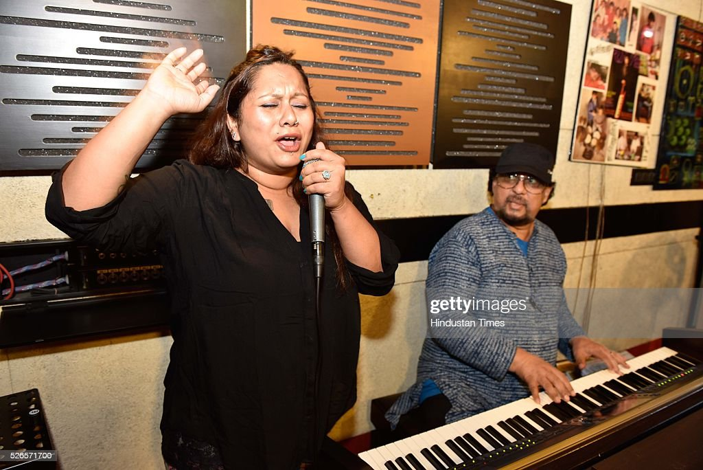 Shefali Alvares, popular playback singer and daughter of popular singer and jazz vocalist Joe Alvaress, and veteran composer-keyboardist Louiz Banks practicing for their concert, during an exclusive interview with HT Cafe for International Jazz Day (April 30), at Santacruz, on April 25, 2016 in Mumbai, India.On International Jazz Day (April 30), Louiz Banks and Shefali Alvares talk about their love for the genre, and how it has changed over the years.