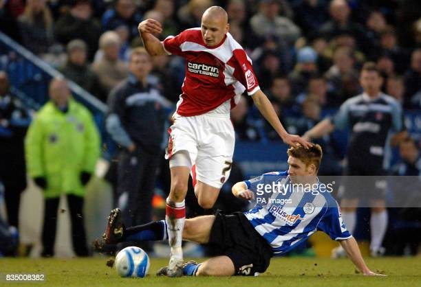 Sheffied Wednesday's James O'Connor and Charlton Athletic's Jonjo Shelvey during the CocaCola Football Championship match at Hillsborough Sheffield