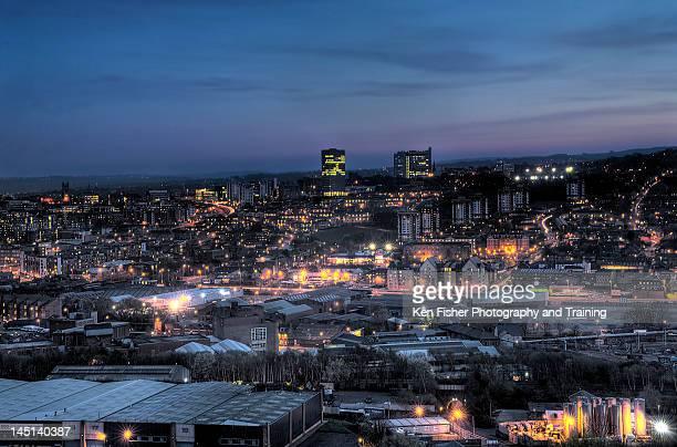 Sheffield at night
