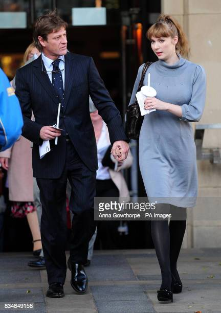 Sheffield born actor Sean Bean and his wife Georgina Sutcliffe after the memorial service for campaigning journalist Adrian Sudbury at Sheffield...