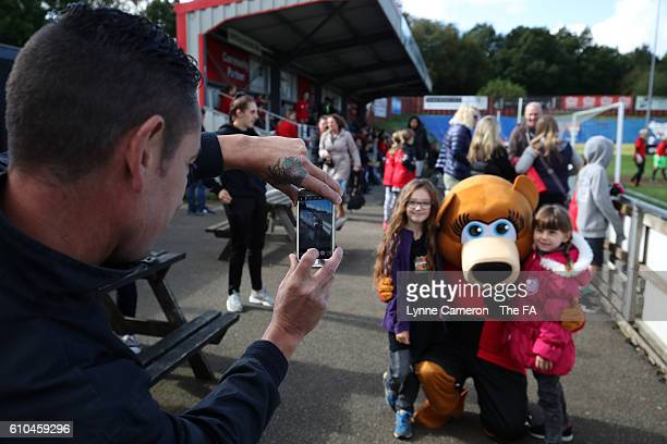 Sheffield FC supporters before the WSL 2 match between Sheffield FC Ladies and London Bees at Home of Football on September 25 2016 in Sheffield...