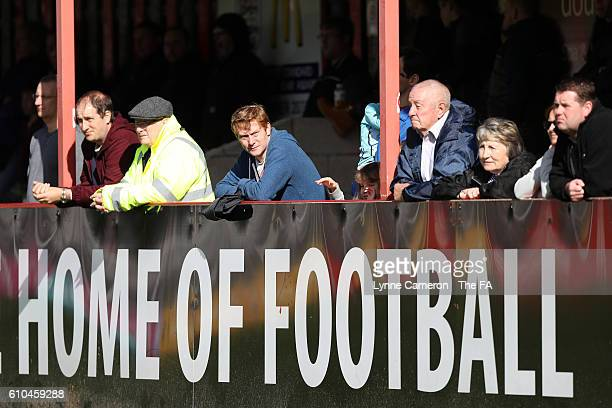 Sheffield FC supporters during the WSL 2 match between Sheffield FC Ladies and London Bees at Home of Football on September 25 2016 in Sheffield...