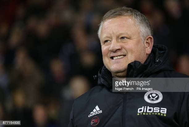 Sheffield United manager Chris Wilder during the Sky Bet Championship match at Bramall Lane Sheffield