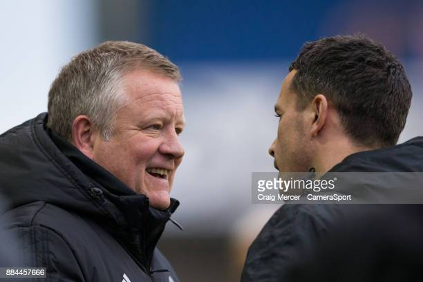 Sheffield United manager Chris Wilder during the Sky Bet Championship match between Millwall and Sheffield United at The Den on December 2 2017 in...