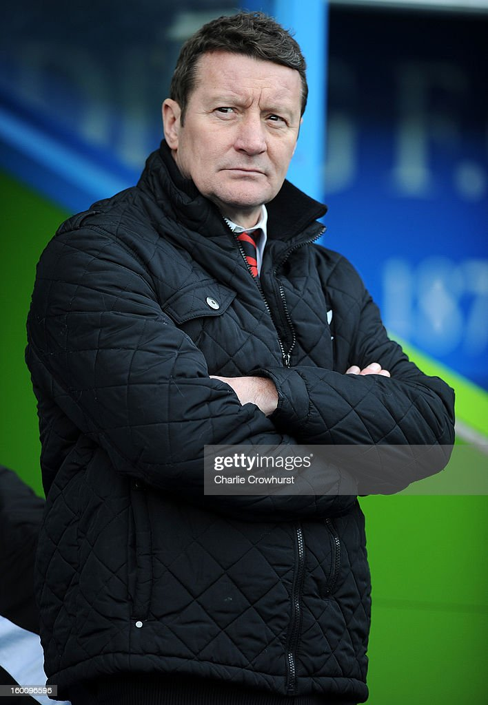 Sheffield United manager Danny Wilson during the FA Cup Fourth Round match between Reading and Sheffield United at the Madejski Stadium on January 26, 2013 in London England.