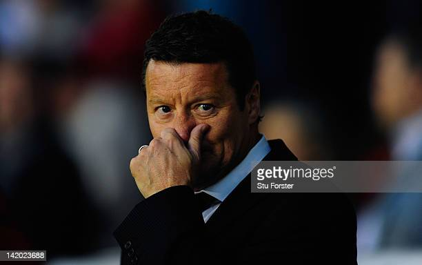 Sheffield United manager Danny Wilson looks on before the npower League One game between Sheffield United and Chesterfield at Bramall Lane on March...