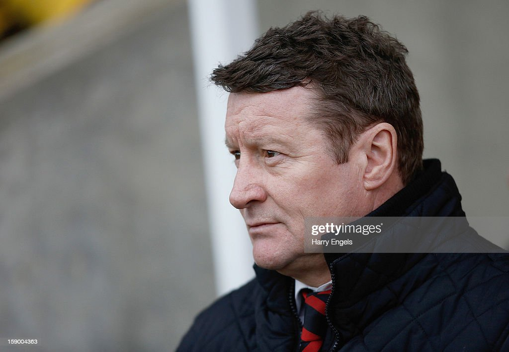 Sheffield United manager Danny Wilson looks on prior to the FA Cup Third Round match between Oxford United and Sheffield United at the Kassam Stadium on January 5, 2013 in Oxford, England.