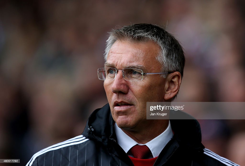 Sheffield United manager <a gi-track='captionPersonalityLinkClicked' href=/galleries/search?phrase=Nigel+Adkins&family=editorial&specificpeople=4015297 ng-click='$event.stopPropagation()'>Nigel Adkins</a> looks on during the pre season friendly match between Sheffield United and Newcastle United at Bramall Lane on July 26, 2015 in Sheffield, England.