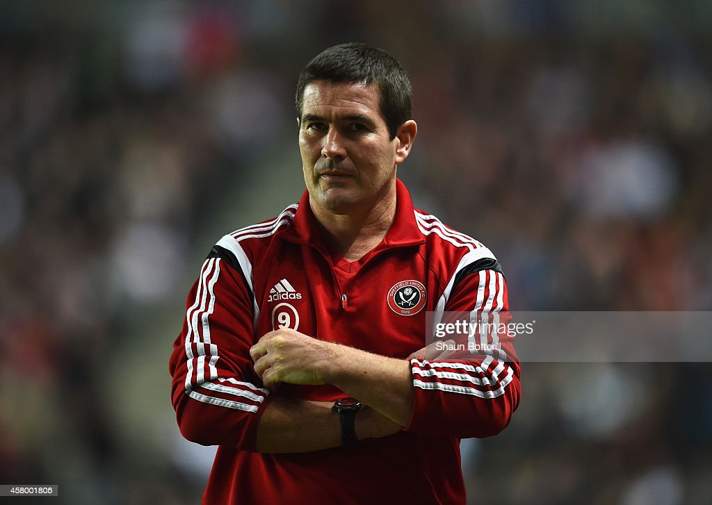 Sheffield United manager Nigel Clough during the Capital One Cup Fourth Round match between MK Dons and Sheffield United at Stadium mk on October 28, 2014 in Milton Keynes, England.