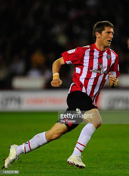 Sheffield United player Richard Cresswell in action during the npower League One game between Sheffield United and Chesterfield at Bramall Lane on...