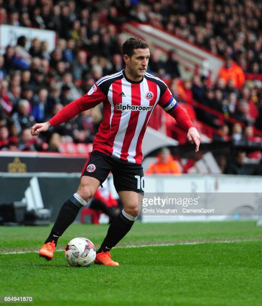 Sheffield United's Billy Sharp during the Sky Bet League One match between Sheffield United and Charlton Athletic at Bramall Lane on March 18 2017 in...