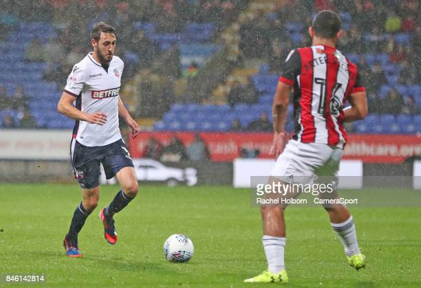 Sheffield United's Cameron CarterVickers and Bolton Wanderers' Will Buckley during the Sky Bet Championship match between Bolton Wanderers and...