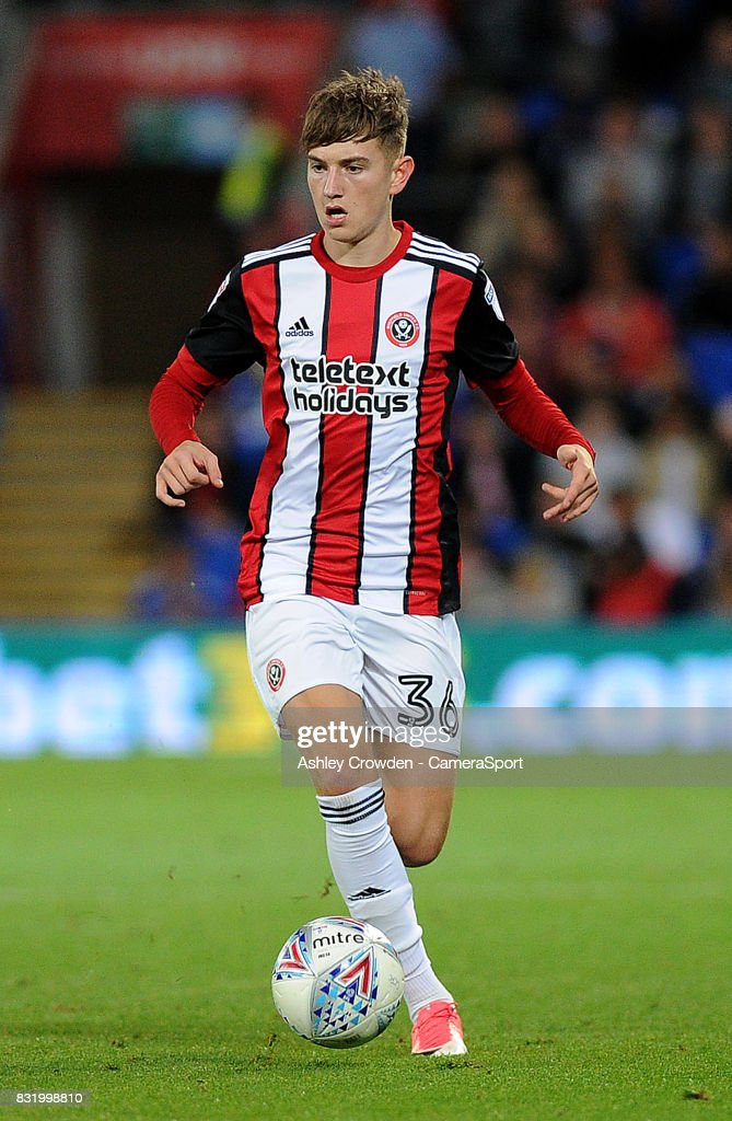 Sheffield United's David Brooks during the Sky Bet Championship match between Cardiff City and Sheffield United at Cardiff City Stadium on August 15, 2017 in Cardiff, Wales.