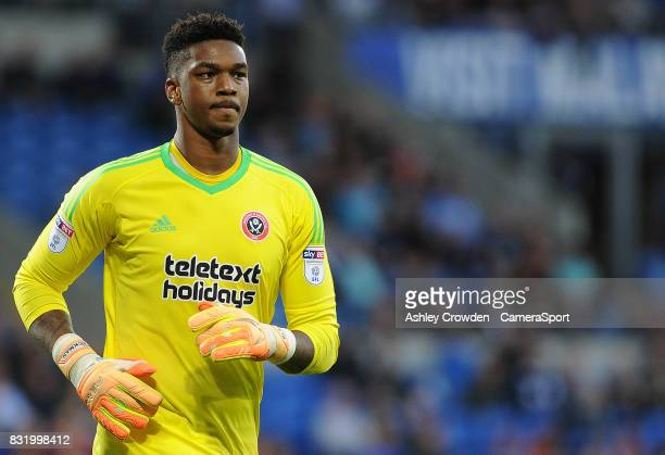 Sheffield United's Jamal Blackman during the Sky Bet Championship match between Cardiff City and Sheffield United at Cardiff City Stadium on August...