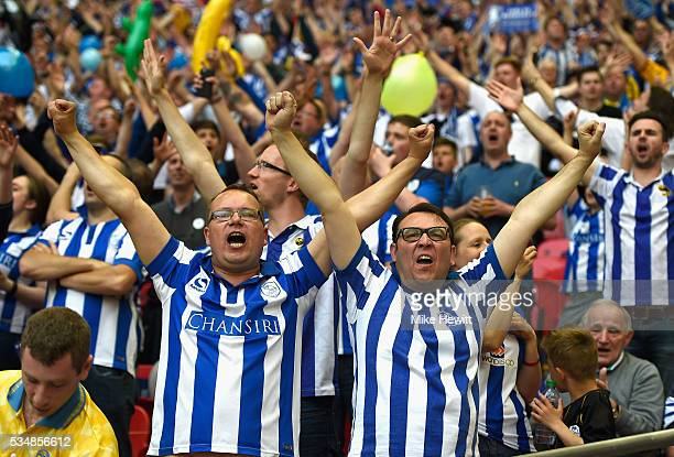 Sheffield Wednesday supporters enjoy atmosphere prior to the Sky Bet Championship Play Off Final match between Hull City and Sheffield Wednesday at...