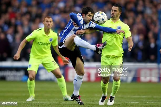 Sheffield Wednesday's Alex Lopez and Brighton's Beram Kayal