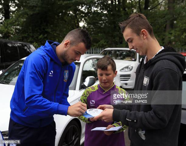 Sheffield Wednesday's Daniel Pudil signs an autograph for a fan prior to the Sky Championship game between Sheffield Wednesday and Nottingham Forest