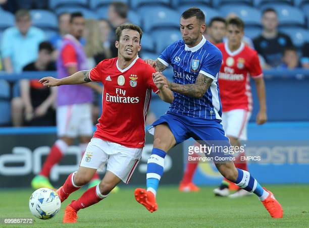 Sheffield Wednesday's Jack Lee and Benfica's Grimaldo