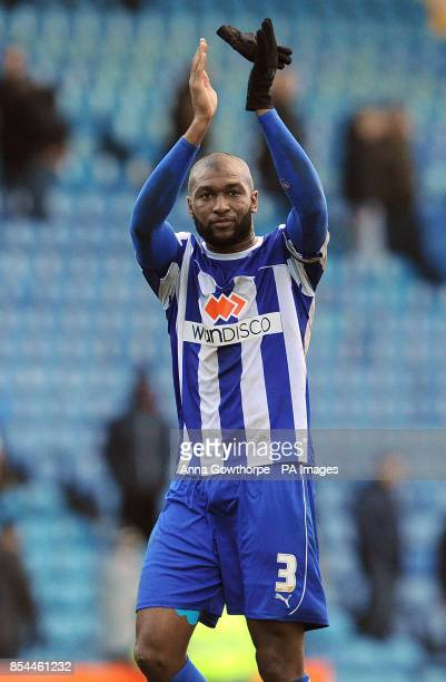 Sheffield Wednesday's Reda Johnson applauds the crowd after victory during the Sky Bet Championship match at Hillsborough