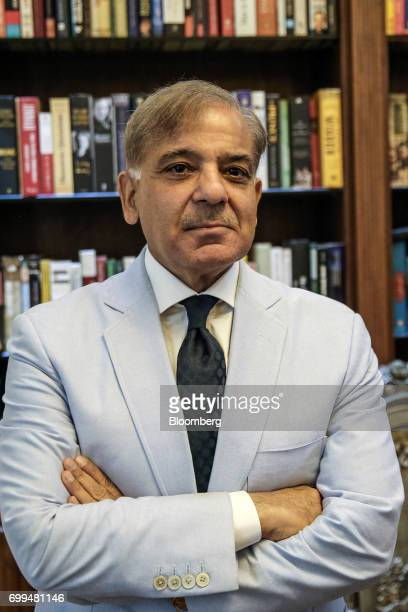Shehbaz Sharif Pakistan's chief minister of the province of Punjab poses for a photograph after an interview in Lahore Pakistan on Tuesday June 13...