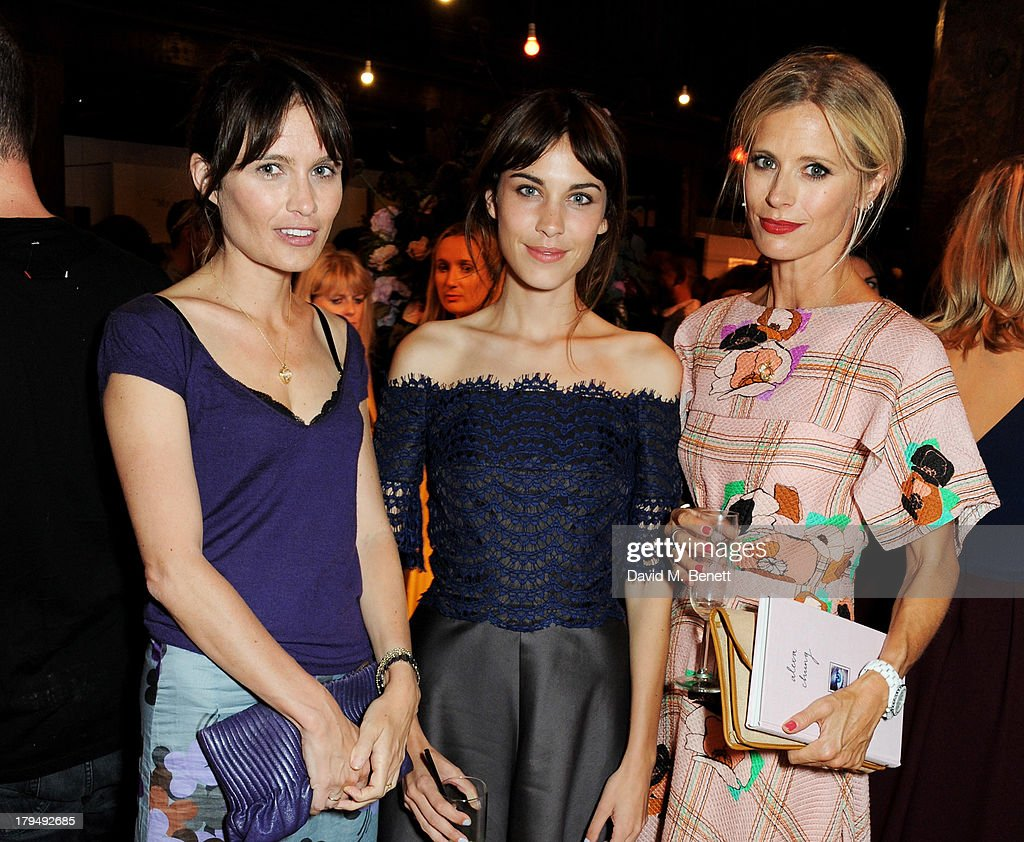 Sheherazade Goldsmith, Alexa Chung and Laura Bailey attend the launch of Alexa Chung's first book 'It' at Liberty on September 4, 2013 in London, England.