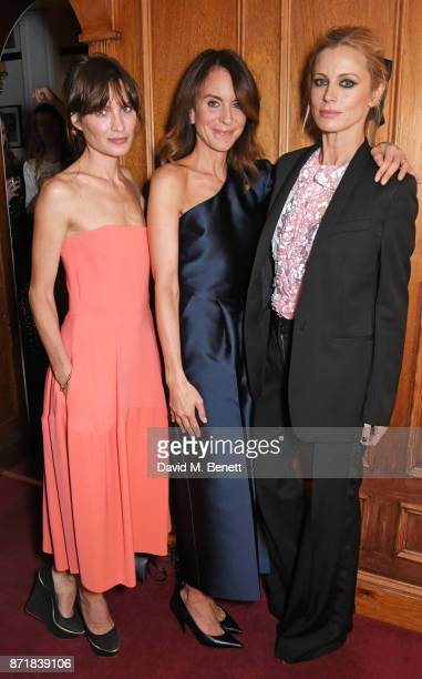 Sheherazade Goldsmith Alison Loehnis President NETAPORTER MR PORTER and Laura Bailey attend a private dinner hosted by NETAPORTER and Stella...